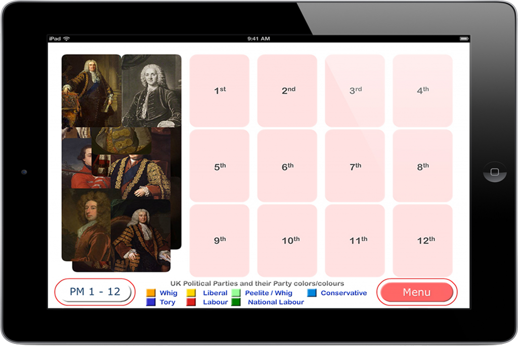 PairPlay - Educational App Game - UK Prime Ministers for iPhone & iPad
