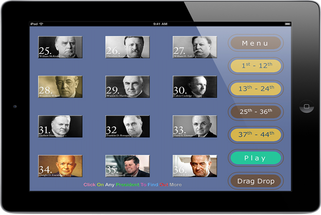 PairPlay - Educational App Game - US Presidents for iPad