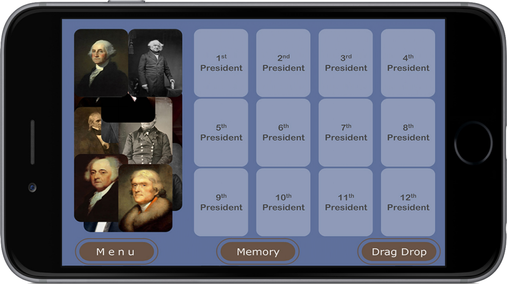 PairPlay - Educational App Game - USA Presidents for iPhone