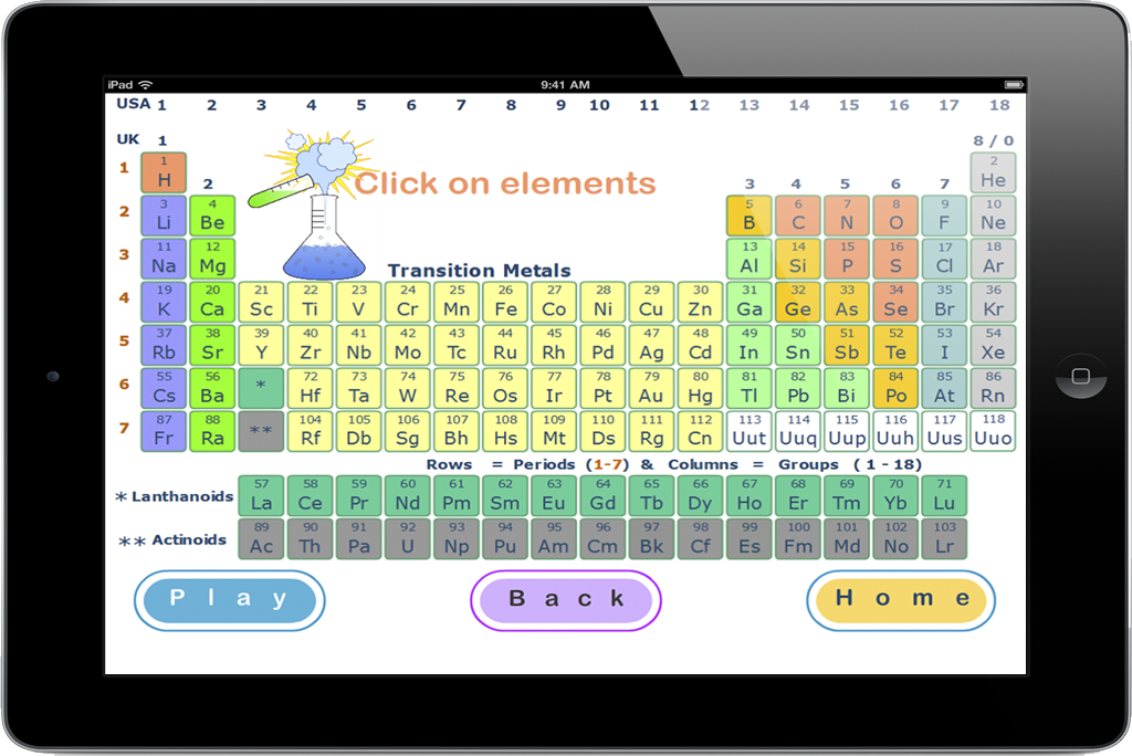 PairPlay - Educational App Game - Periodic Table for iPad